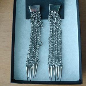 BNIP Bebe spikey chain earrings